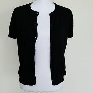 Black J. Crew short sleeve cardigan